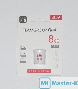 USB FLASH 8Gb Team C151 White