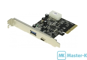Контроллер PCI-E USB 3.1 ST-Lab U-1120 PCI-Express X1