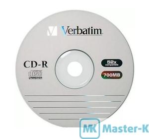Диск Verbatim CD-R 700Mb 52x
