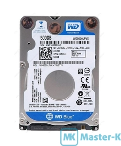 """HDD 2,5"""" SATA 500Gb WD WD5000LPCX 5400, 16Mb"""