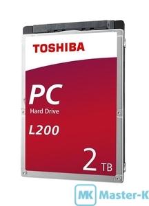 """HDD 2,5"""" SATA 2Tb Toshiba L200 HDWL120EZSTA 5400,128Mb"""