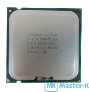 Intel Core 2 Duo E7400 2,80GHz/1066MHz/3Mb-L2, LGA-775 Tray